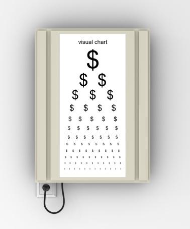 Optometrist「$ Eye Chart」:スマホ壁紙(4)