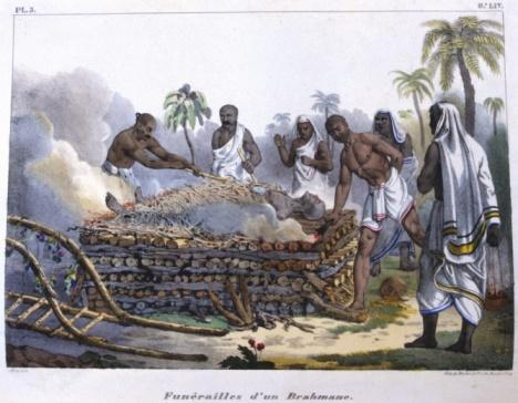 Cremation「Art depicting Brahmin funeral ceremony」:スマホ壁紙(13)