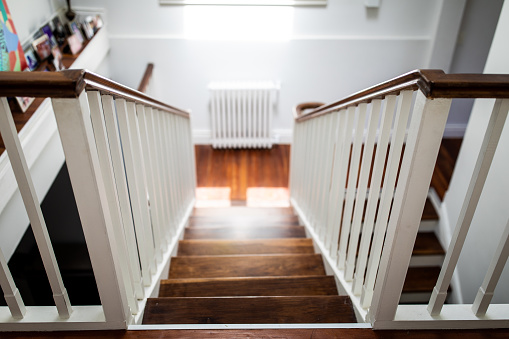 Buenos Aires「The view down a wooden stairway in house」:スマホ壁紙(0)