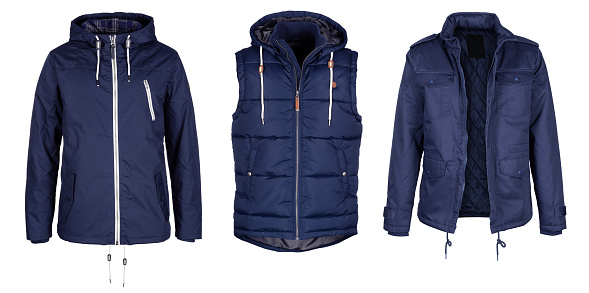 Warm Clothing「Two jackets and vest in dark blue color」:スマホ壁紙(3)