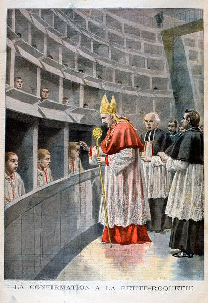 Arugula「Confirmation at the prison de petite roquette for children, Paris, 1896. Artist: Oswaldo Tofani」:写真・画像(2)[壁紙.com]