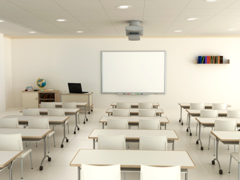 Lecture Hall「Classroom with interactive whiteboard」:スマホ壁紙(5)