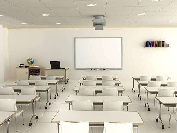 Classroom with interactive whiteboard:スマホ壁紙(壁紙.com)