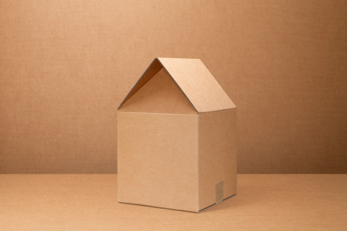 Moving Office「Moving home. Cardboard box shaped house.」:スマホ壁紙(5)