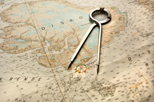 Aboard「compass on nautical chart 」:スマホ壁紙(4)