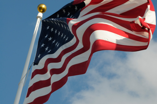 Annual Event「Upward View of American Flag on a White Pole」:スマホ壁紙(15)