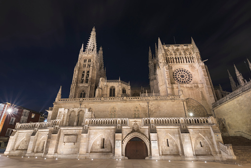 Camino De Santiago「Spain, Burgos, Burgos cathedral at night」:スマホ壁紙(1)