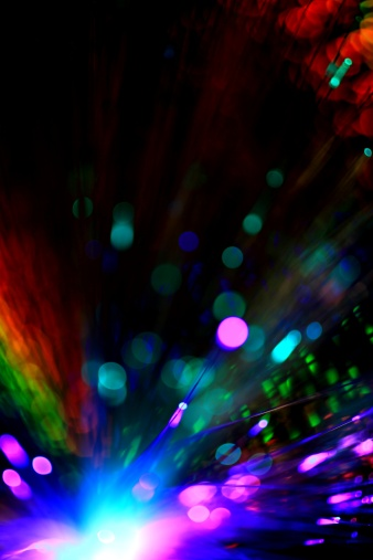 Black Background「Abstract illustration of colorful lights」:スマホ壁紙(11)