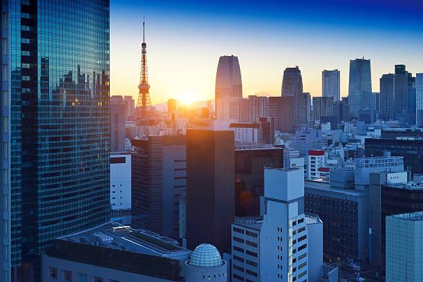 Tokyo Skyscraper and Tokyo Tower:スマホ壁紙(壁紙.com)