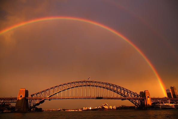 虹「Rainbows Light Up Sydney Harbour」:写真・画像(6)[壁紙.com]