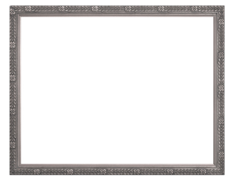 Antique「Silver or Pewter Rectangular Picture Frame.  Isolated with Clipping Path」:スマホ壁紙(14)
