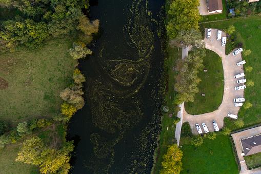 France「River La Seille, France - aerial view」:スマホ壁紙(10)