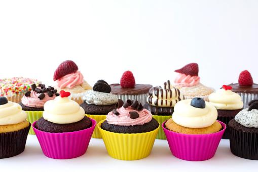 カップケーキ「カップケーキのボーダー」:スマホ壁紙(10)