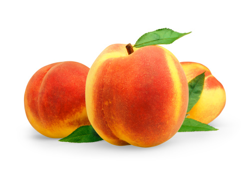 Peach「Peach three with Leafs」:スマホ壁紙(16)