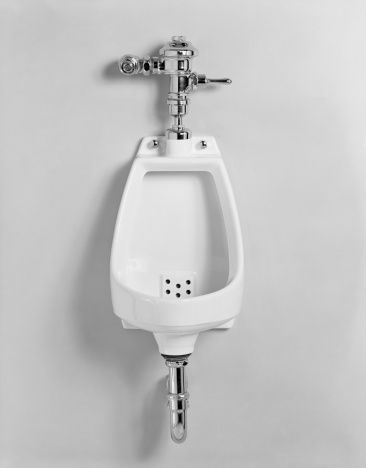 Convenience「Urinal on white background, close-up,」:スマホ壁紙(5)