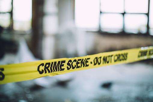 夕焼け 海「Cordon Tape On A Crime Scene」:スマホ壁紙(1)