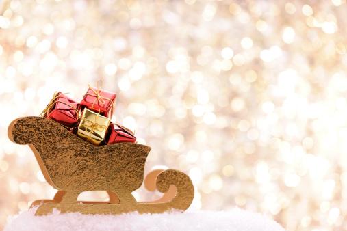 Sled「Sleigh with christmas presents」:スマホ壁紙(9)