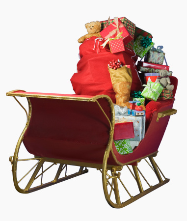 Sled「Sleigh with bag of Christmas toys」:スマホ壁紙(5)
