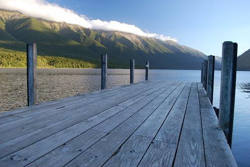 New Zealand「Jetty, Lake Rotoiti, Nelson Lakes National Park, NZ」:スマホ壁紙(2)