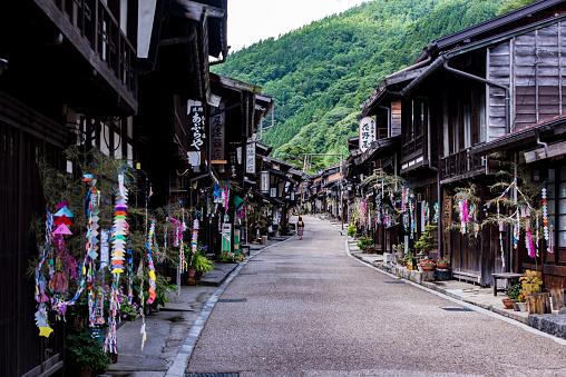 日本の祭り「Tanabata Ornament, Narai Juku, Nagano Prefecture, Japan」:スマホ壁紙(16)