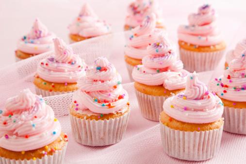 カップケーキ「ピンクのケーキ」:スマホ壁紙(8)