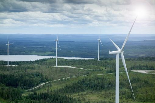 Generator「Epic view on wind farm in Sweden from wind turbine」:スマホ壁紙(11)