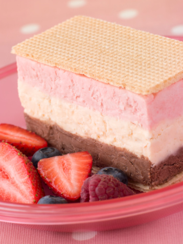 Neapolitan - Ice Cream「Neapolitan Ice Cream with Wafer Biscuits and Berries」:スマホ壁紙(17)