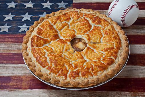 野球「Apple Pie And Baseball」:スマホ壁紙(6)