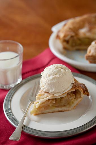 アイスクリーム「Apple pie al a mode with glass of milk」:スマホ壁紙(11)