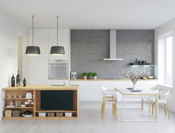 Modern kitchen:スマホ壁紙(壁紙.com)