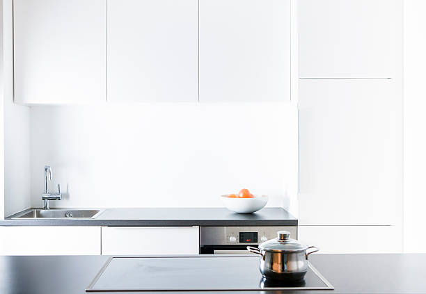 Modern kitchen, pot on cooker:スマホ壁紙(壁紙.com)