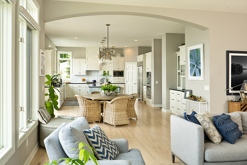 Standing Water「Modern Kitchen Living Room Hone design with open concept」:スマホ壁紙(2)