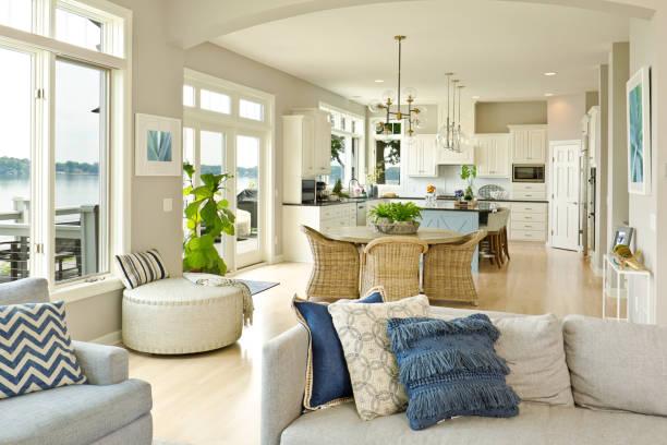 Modern Kitchen Living Room Hone design with open concept:スマホ壁紙(壁紙.com)
