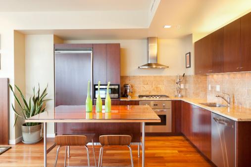 Dining Table「Modern Kitchen in Luxury Condominium」:スマホ壁紙(1)