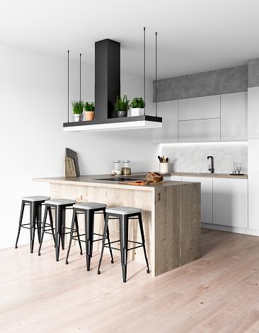 Vertical「Modern kitchen interior」:スマホ壁紙(4)
