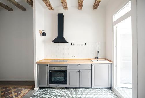 Kitchen「Modern kitchen unit in an apartment in Barcelona, Spain」:スマホ壁紙(15)