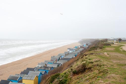 Changing Cubicle「United Kingdom, Milford on Sea, beach in winter」:スマホ壁紙(18)