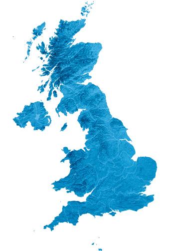 Isle of Man「United Kingdom Topographic Map Isolated」:スマホ壁紙(3)