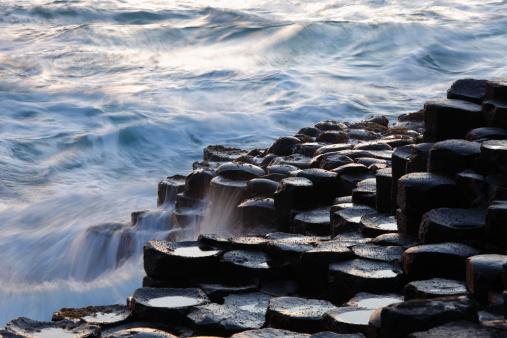 Basalt「United Kingdom, Northern Ireland, County Antrim, View of causeway coast」:スマホ壁紙(11)