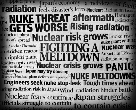 Sadness「Japan earthquake nuke meltdown headline collage」:スマホ壁紙(18)