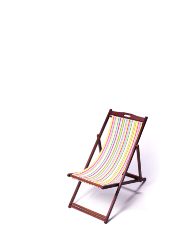 Deck Chair「Deck chair on white background」:スマホ壁紙(18)