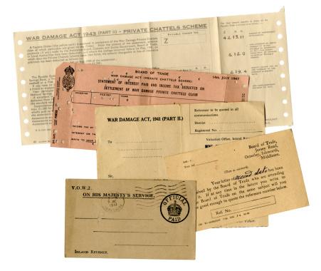 20th Century Style「British WW2 war damage paperwork」:スマホ壁紙(13)