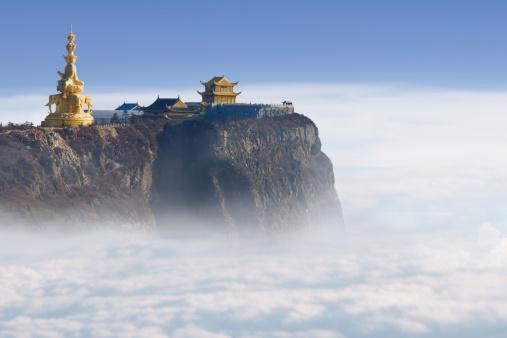 Temple「峨眉山 Jinding 寺院は海抜 3 ,000 m」:スマホ壁紙(13)