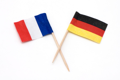 France「Two European Flags of Germany and France.」:スマホ壁紙(7)