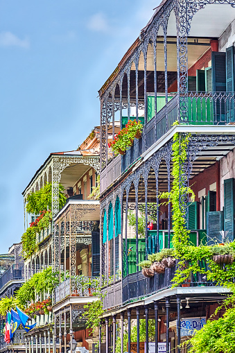 Fretwork「The wrought iron lace of a french Quarter Balcony」:スマホ壁紙(0)
