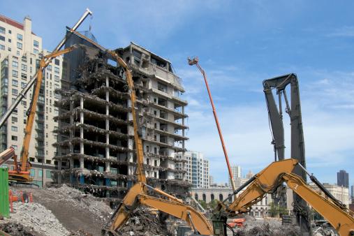 Destruction「Building being demolished」:スマホ壁紙(5)