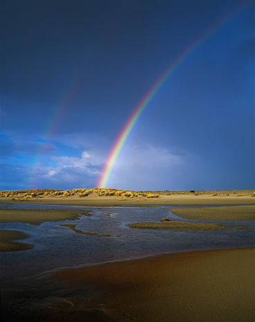 Double Rainbow「Rainbow appears over the mouth of the Siltcoos River」:スマホ壁紙(0)