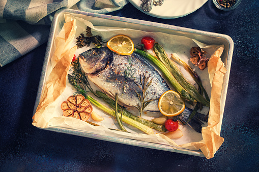 Asparagus「Freshly Baked Sea Bream In a Baking Sheet」:スマホ壁紙(13)