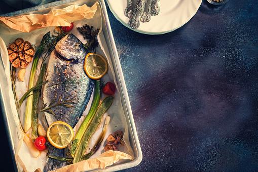 Sea Bream「Freshly Baked Sea Bream In a Baking Sheet」:スマホ壁紙(13)