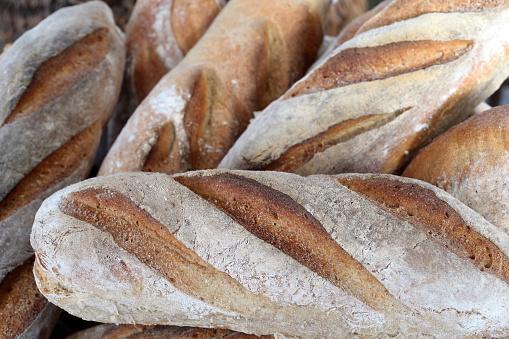 Bakery「Freshly baked bread in a bakery.  France.」:スマホ壁紙(14)